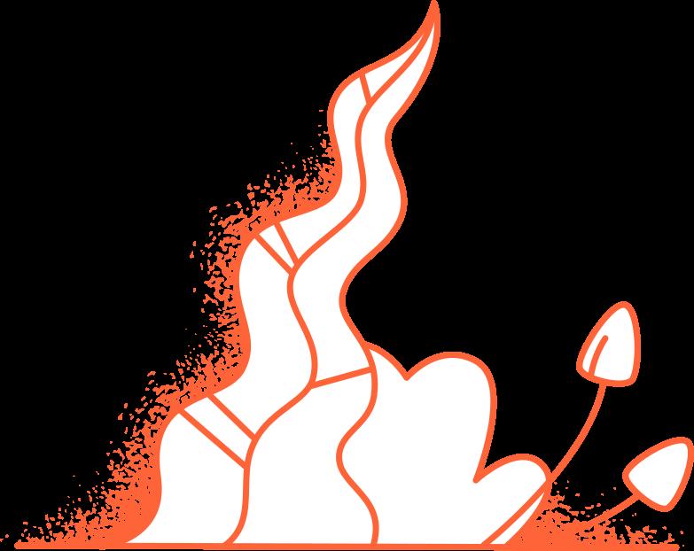 Piante magiche di halloween Illustrazione clipart in PNG, SVG