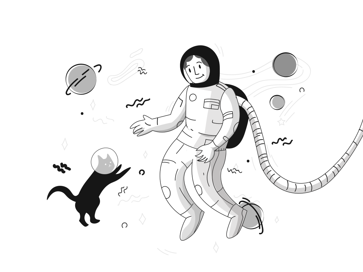 Space discovery  Clipart illustration in PNG, SVG