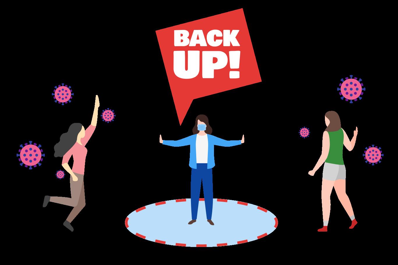 Back Up! Do not get closer Clipart illustration in PNG, SVG