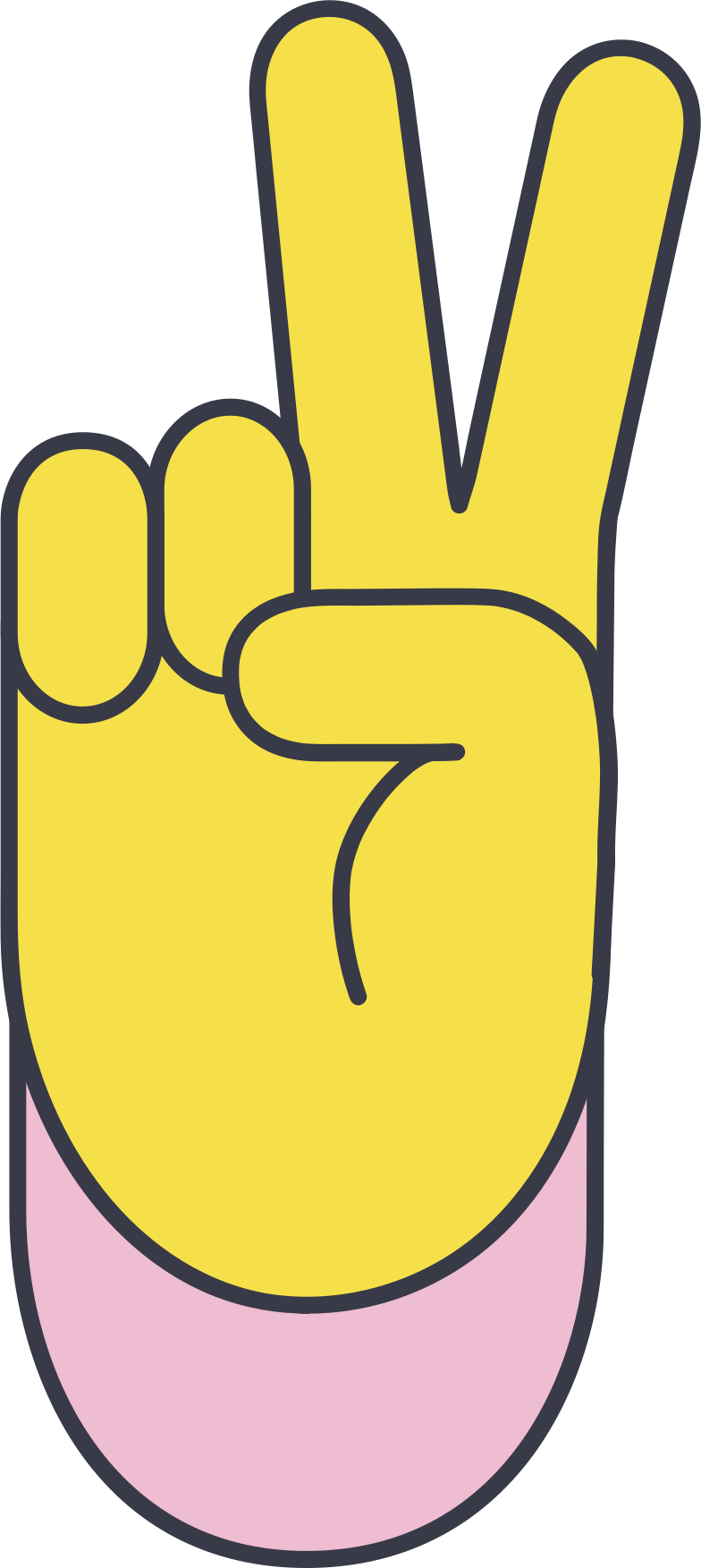 victory hand Clipart illustration in PNG, SVG