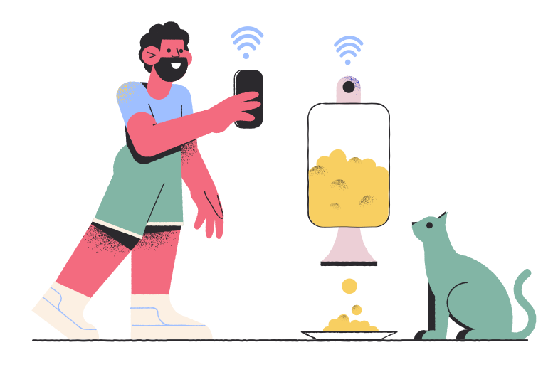 Smart food dispenser Clipart illustration in PNG, SVG