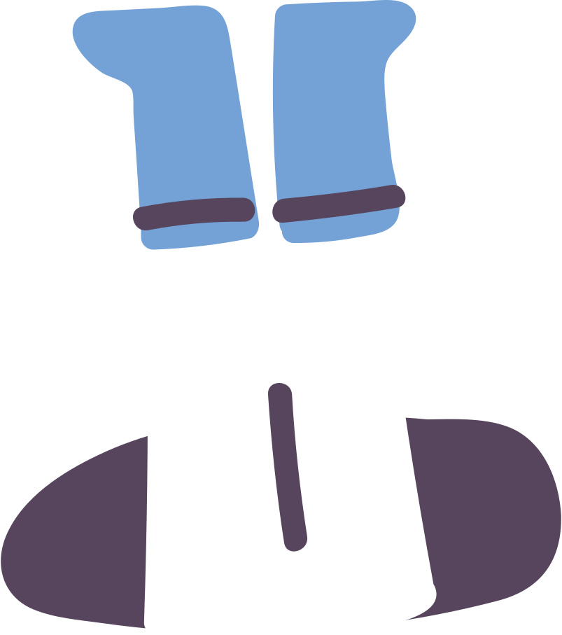feet of the astronaut Clipart illustration in PNG, SVG