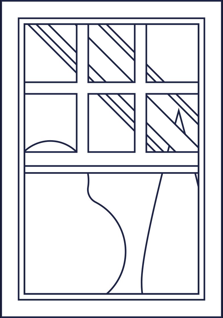 window room line Clipart illustration in PNG, SVG