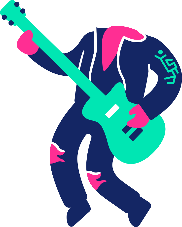 body musician Clipart illustration in PNG, SVG