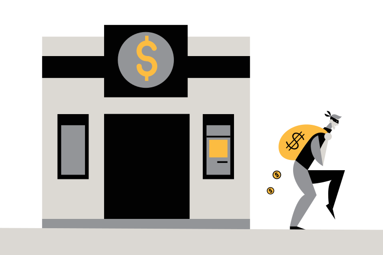 The bank is robbed Clipart illustration in PNG, SVG