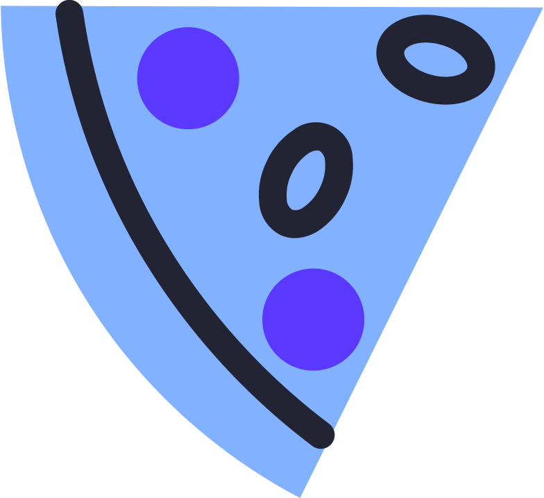 slice of pizza Clipart illustration in PNG, SVG