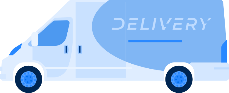 auto van delivery Clipart illustration in PNG, SVG