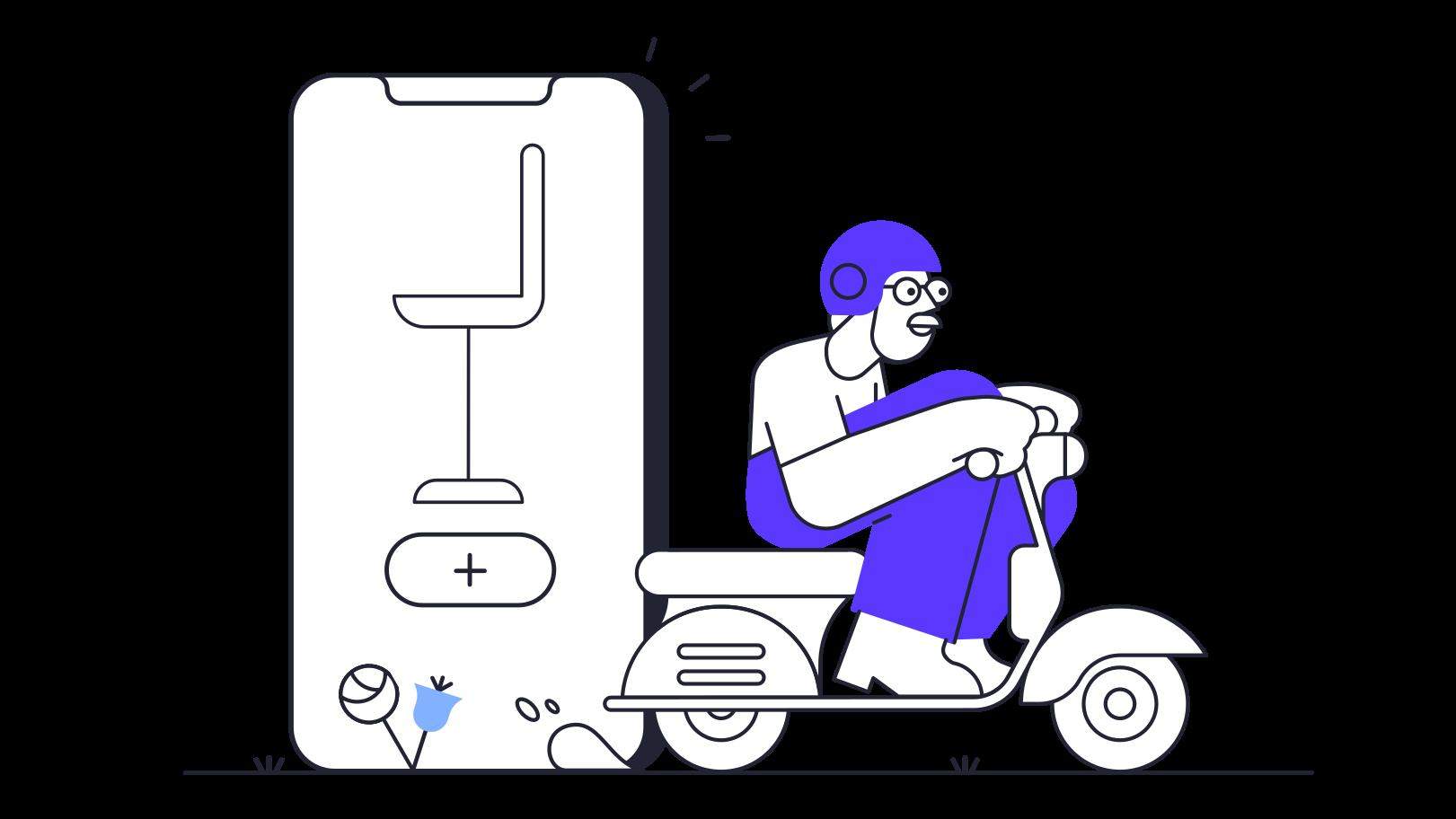 Furniture app delivery Clipart illustration in PNG, SVG