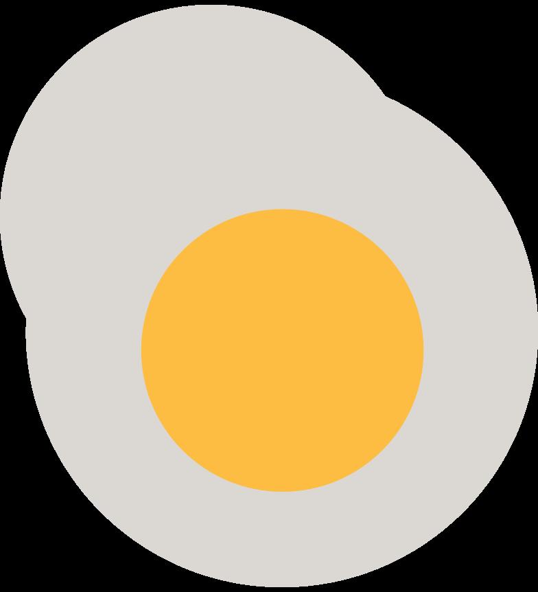fried egg Clipart illustration in PNG, SVG