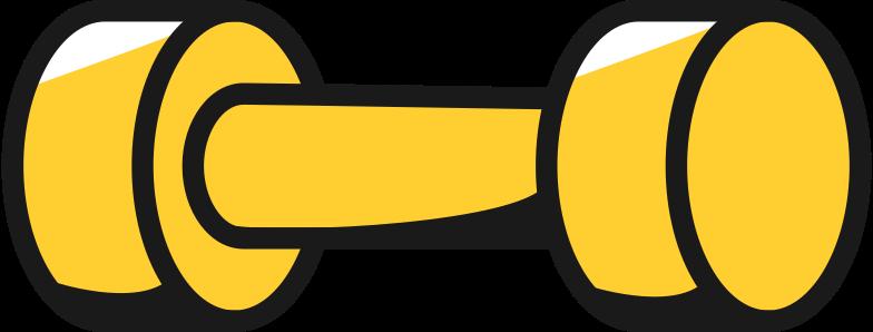 dumbbell Clipart illustration in PNG, SVG
