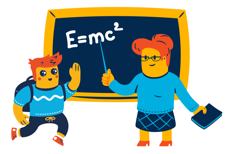 School lesson  Clipart illustration in PNG, SVG