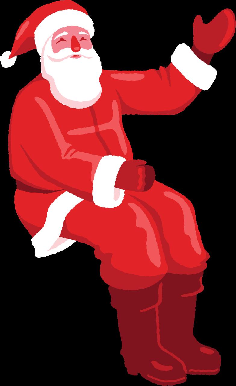 santa sitting Clipart illustration in PNG, SVG