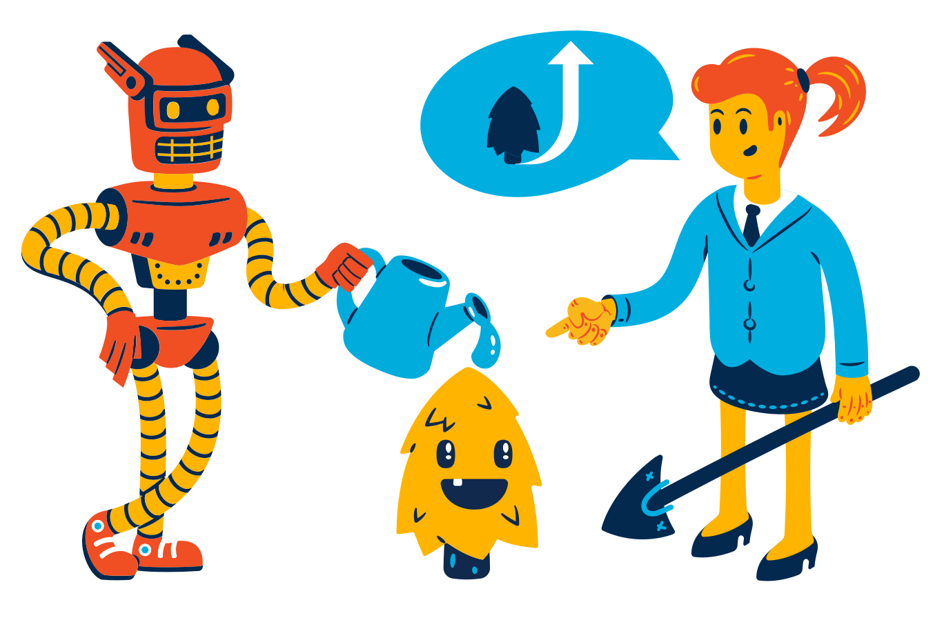 Collaborative intelligence Clipart illustration in PNG, SVG