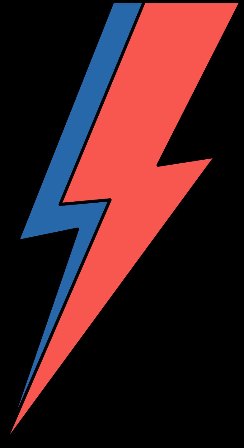 lightning bowie Clipart illustration in PNG, SVG