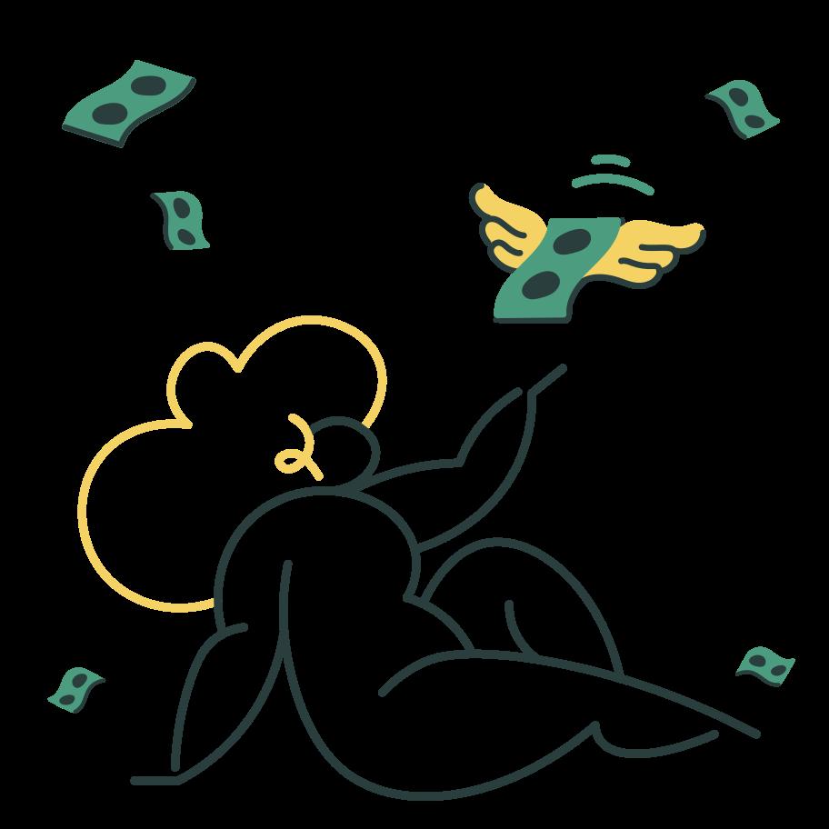 Money rain Clipart illustration in PNG, SVG