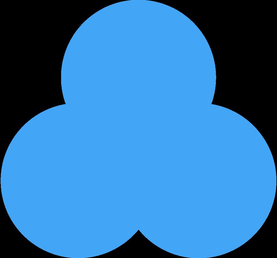 trefoil blue Clipart illustration in PNG, SVG
