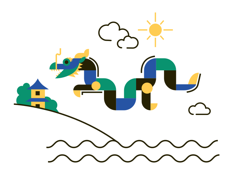 The Dragon Clipart illustration in PNG, SVG