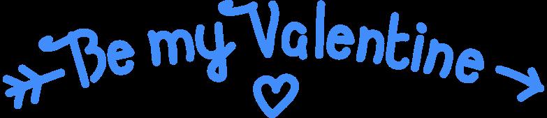 Sei mein valentinsschatz Clipart-Grafik als PNG, SVG