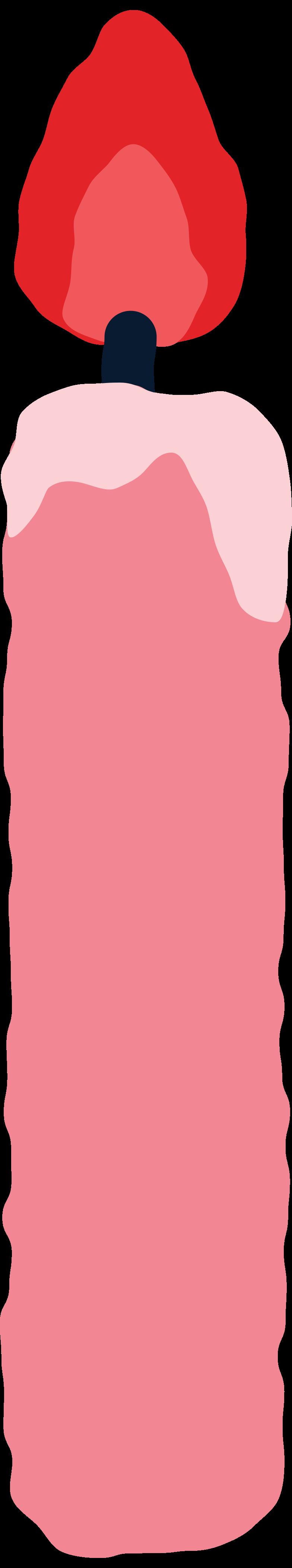 slim candle Clipart illustration in PNG, SVG