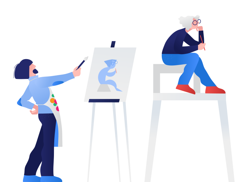 style The artist paints a picture Vector images in PNG and SVG | Icons8 Illustrations