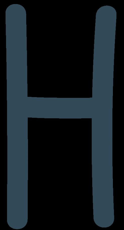 h dark blue Clipart illustration in PNG, SVG
