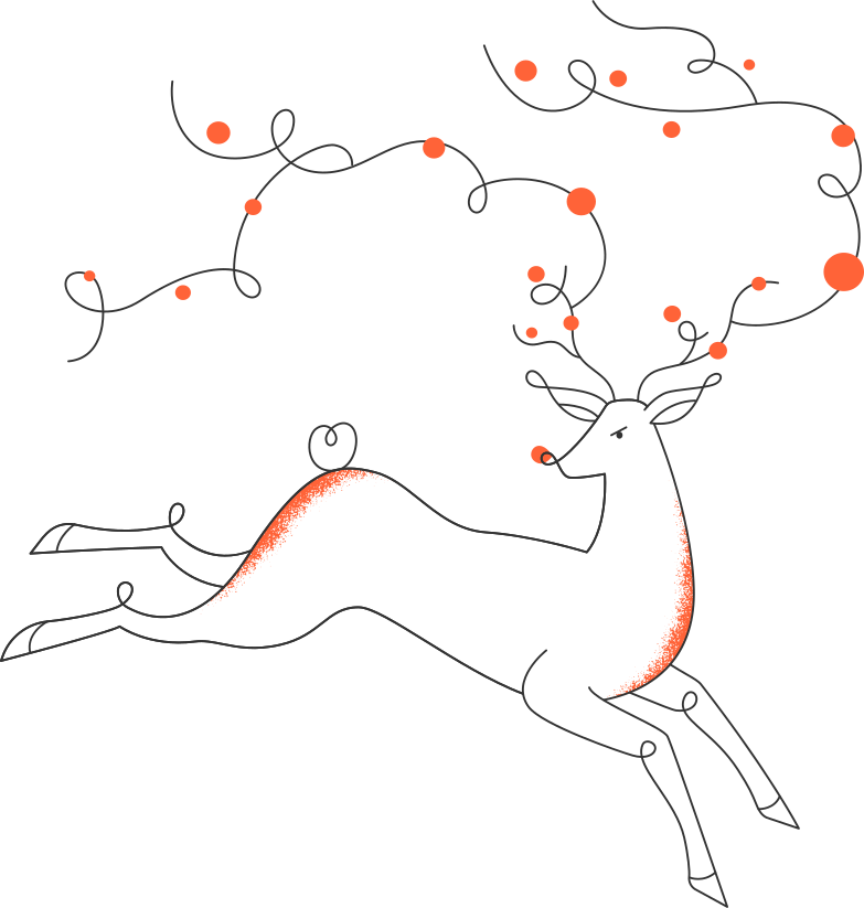 style christmas deer Vector images in PNG and SVG | Icons8 Illustrations