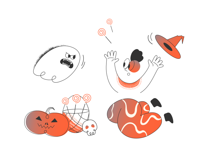 style Scared by ghost Vector images in PNG and SVG | Icons8 Illustrations