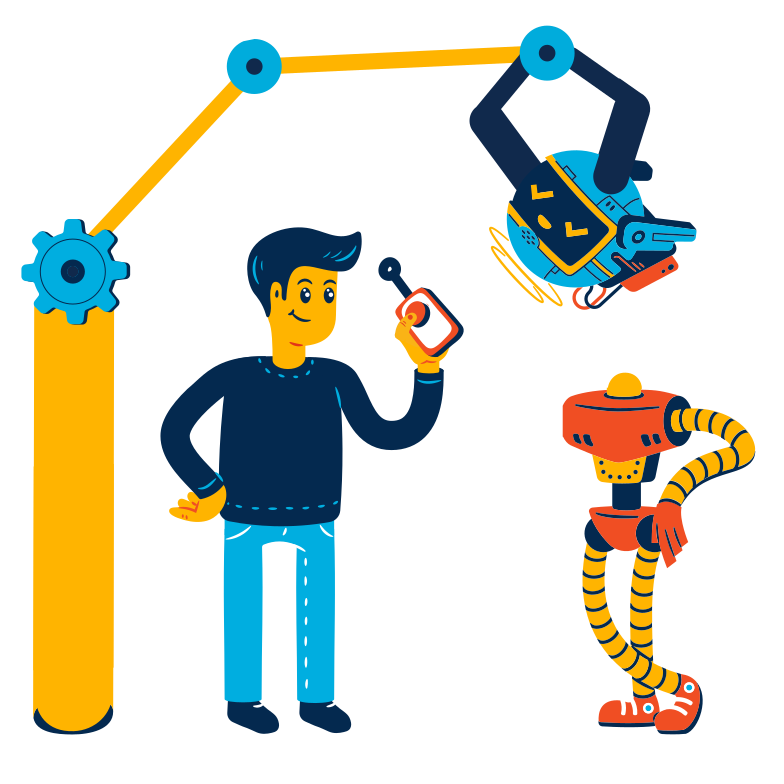 Creating a robot Clipart illustration in PNG, SVG