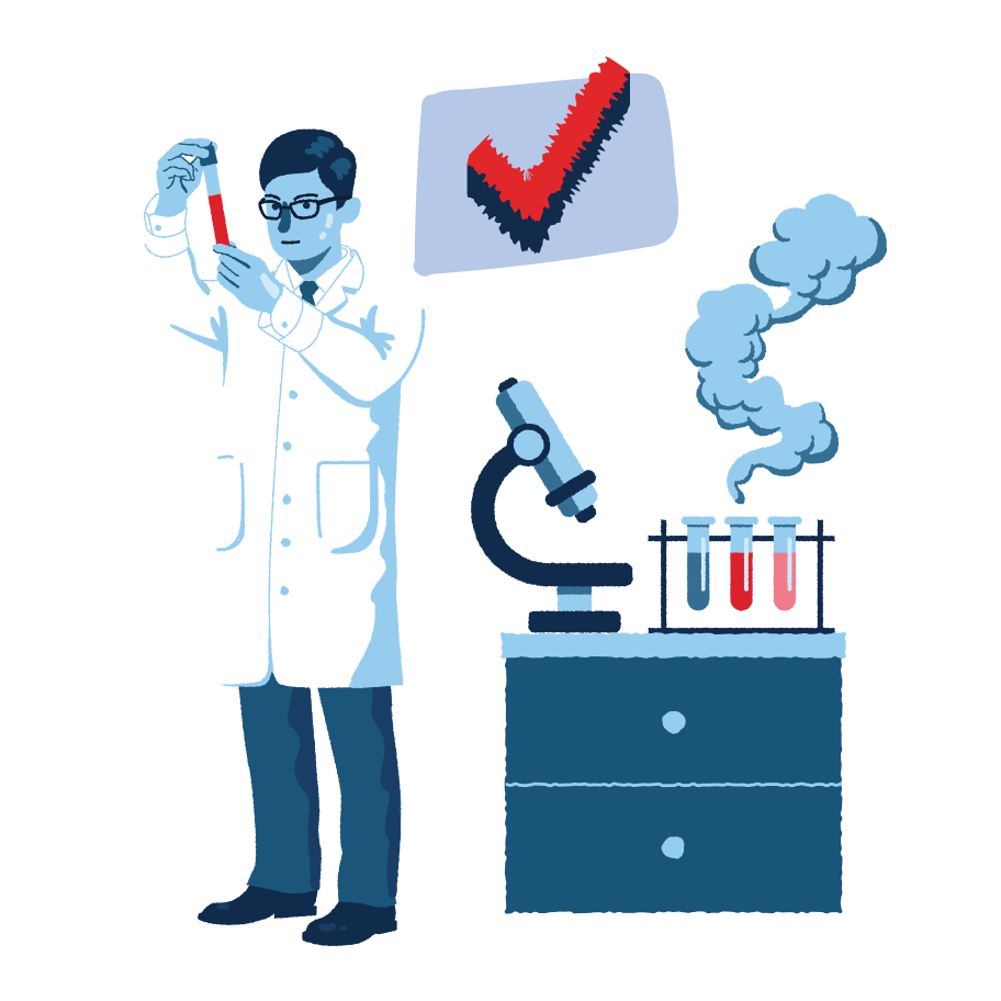 Successful experiment Clipart illustration in PNG, SVG