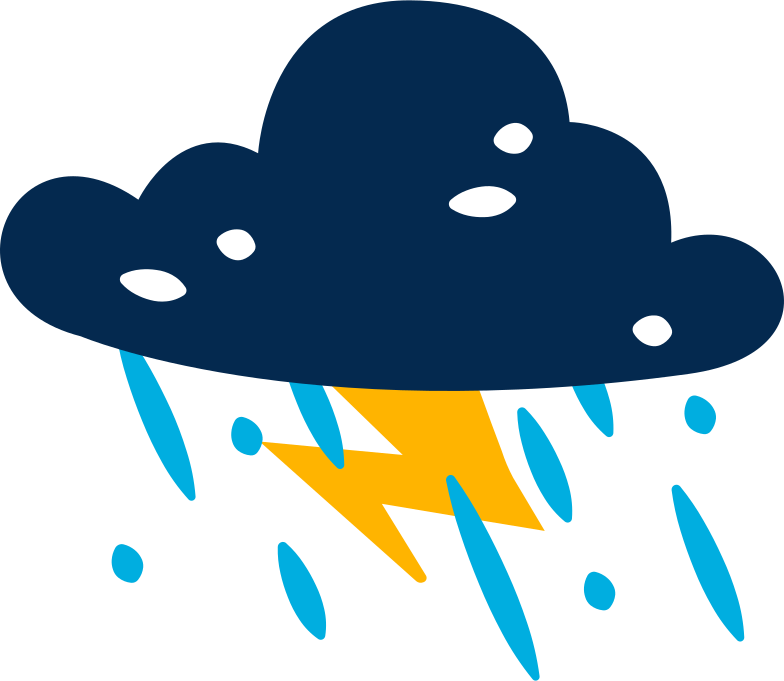 Imágenes vectoriales lluvia de iluminación de nubes en PNG y SVG estilo  | Ilustraciones Icons8