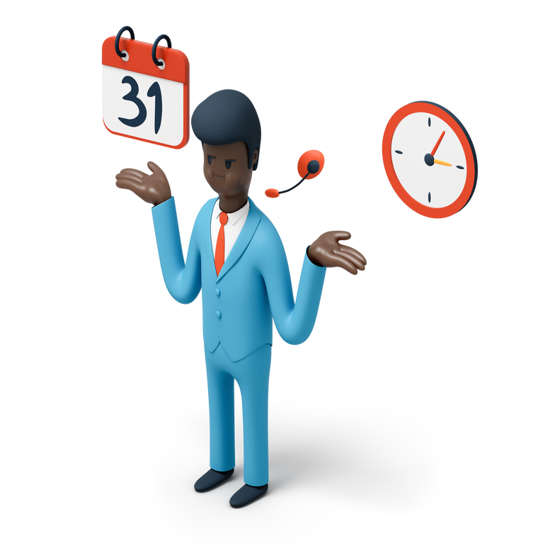 Time is running out Clipart illustration in PNG, SVG