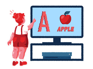 style  Girl learning alphabet images in PNG and SVG | Icons8 Illustrations