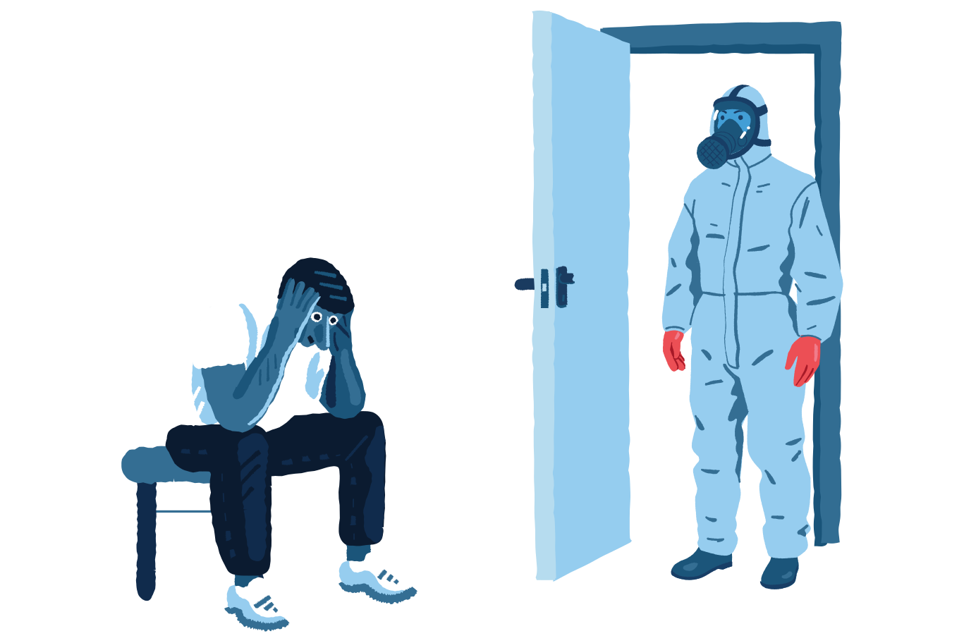Infected and afraid Clipart illustration in PNG, SVG