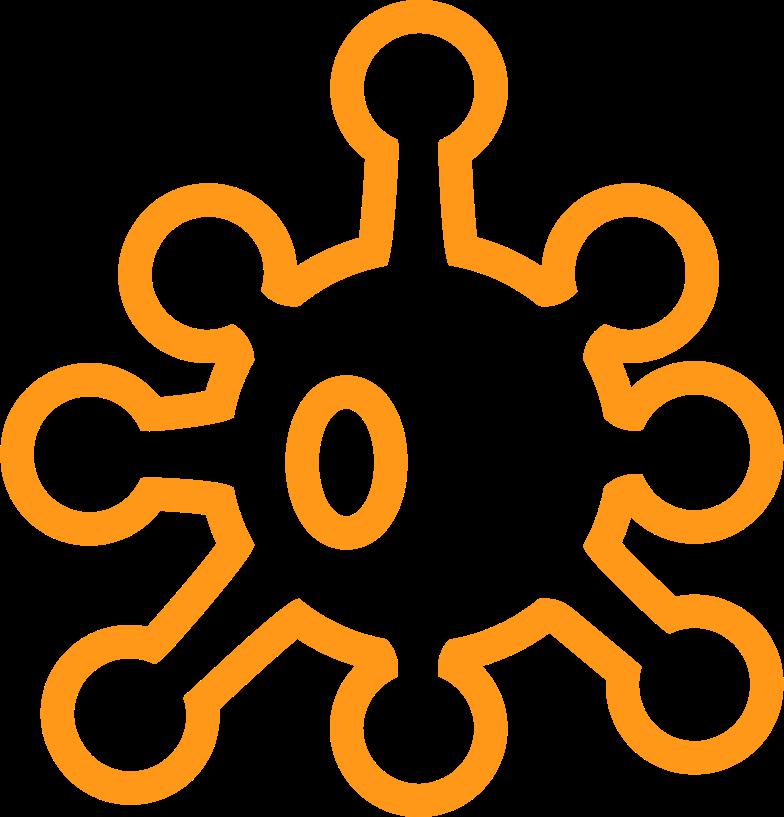 yellow coronavirus contour Clipart illustration in PNG, SVG