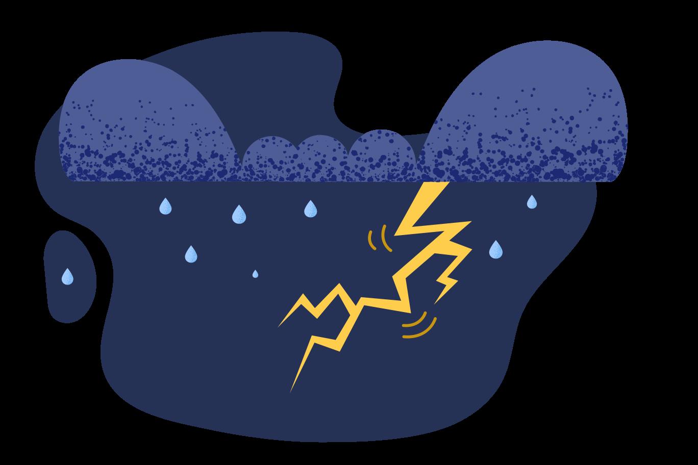 Thunderstorm Clipart illustration in PNG, SVG