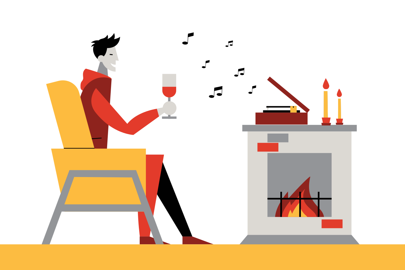 style Relaxing evening Vector images in PNG and SVG | Icons8 Illustrations