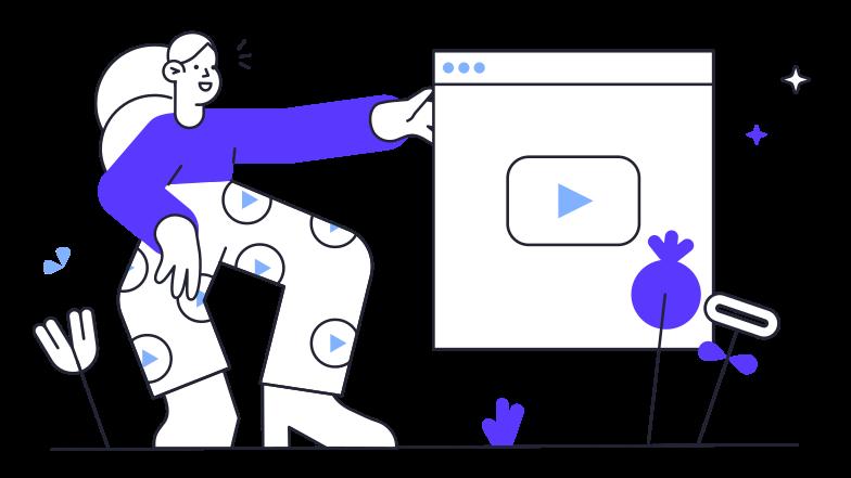 Enjoying youtube Clipart illustration in PNG, SVG
