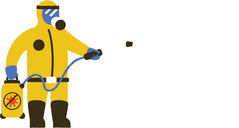 man in protective suit disinfecting Clipart illustration in PNG, SVG