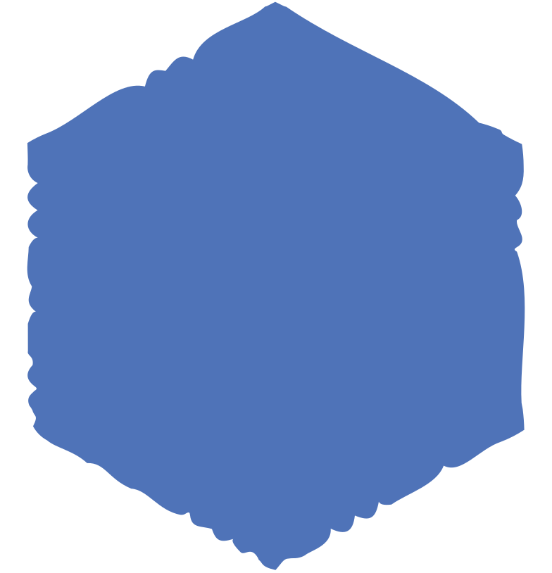 hexagon blue Clipart illustration in PNG, SVG