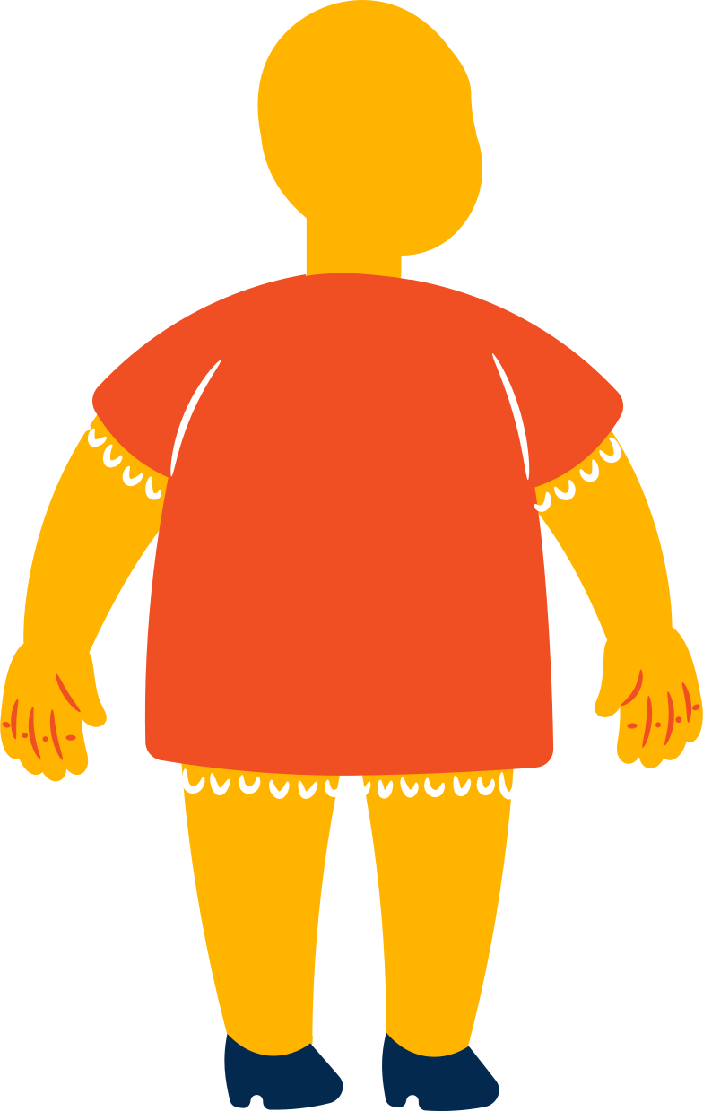 style fat girl standing back Vector images in PNG and SVG | Icons8 Illustrations