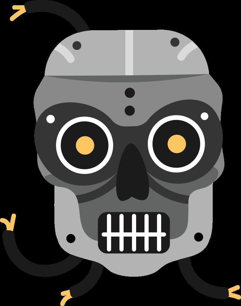 head robot Clipart illustration in PNG, SVG
