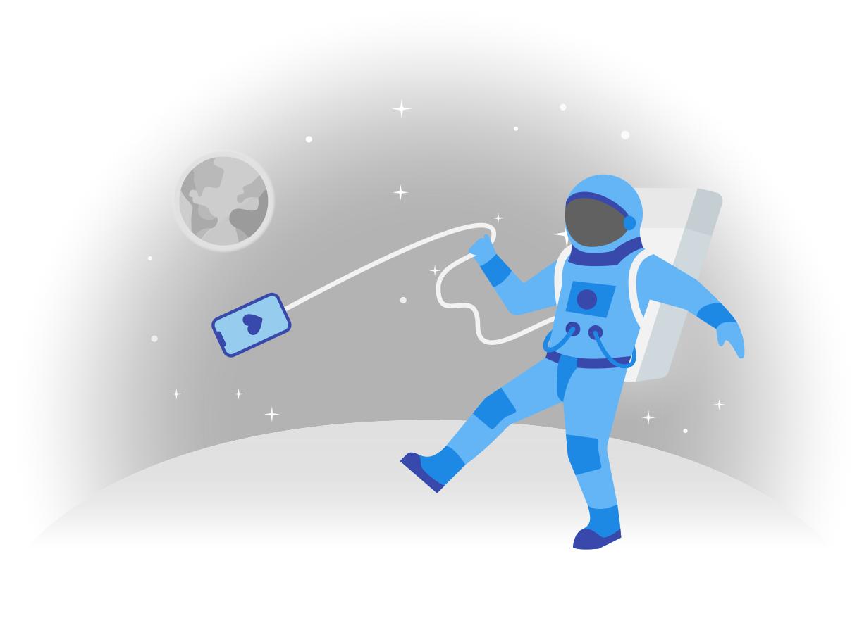 Ilustración de clipart de Le gusta en el espacio en PNG, SVG