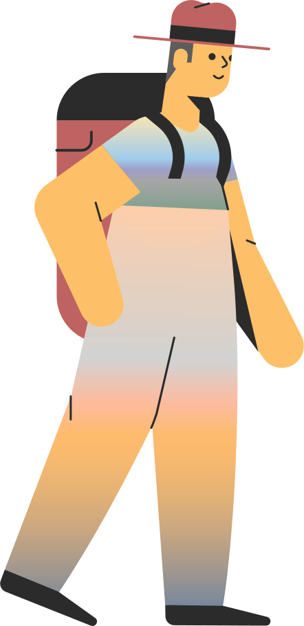 tourist man Clipart illustration in PNG, SVG