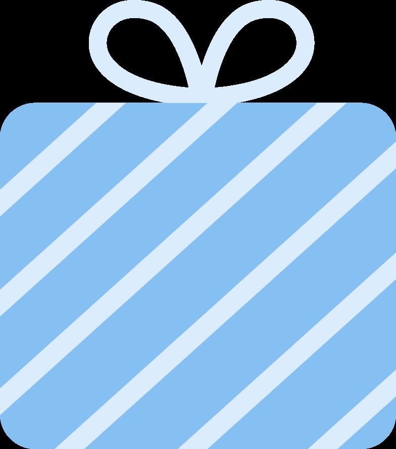 present striped Clipart illustration in PNG, SVG