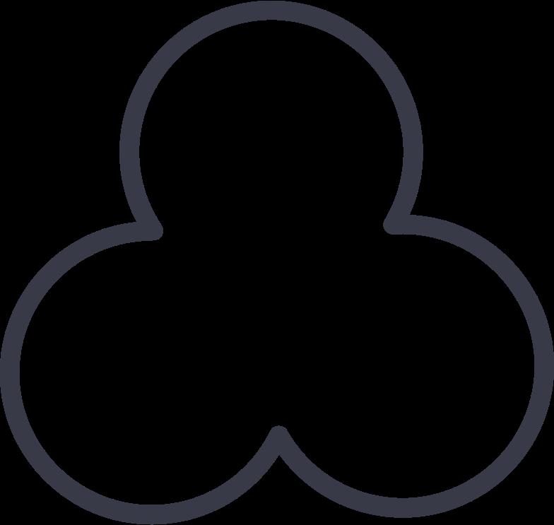 trefoil shape Clipart illustration in PNG, SVG