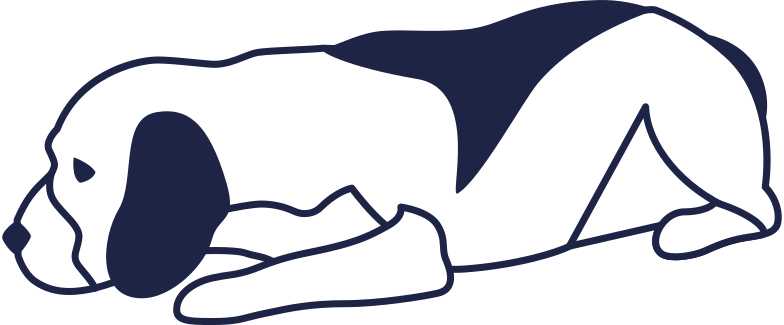 dog lying line Clipart illustration in PNG, SVG