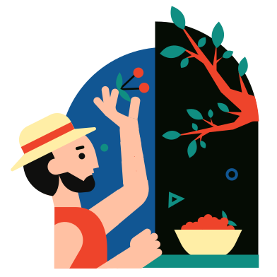style Cherry harvest images in PNG and SVG | Icons8 Illustrations