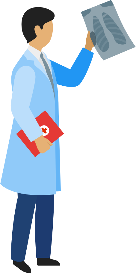 style doctor with x-ray image and patient-card Vector images in PNG and SVG   Icons8 Illustrations