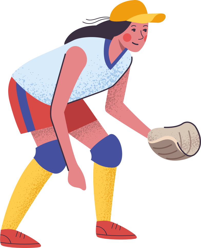style softball player Vector images in PNG and SVG | Icons8 Illustrations