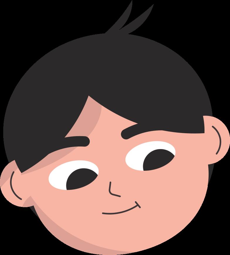 Testa di ragazzo Illustrazione clipart in PNG, SVG